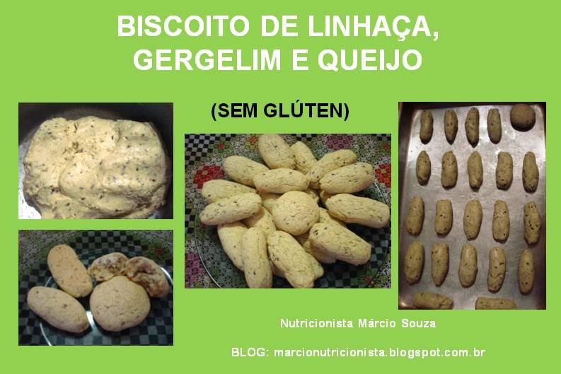 BISCOITO DE LINHAÇA, GERGELIM E QUEIJO