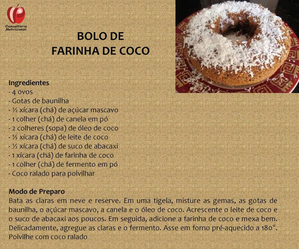 BOLO DE FARINHA DE COCO – VP