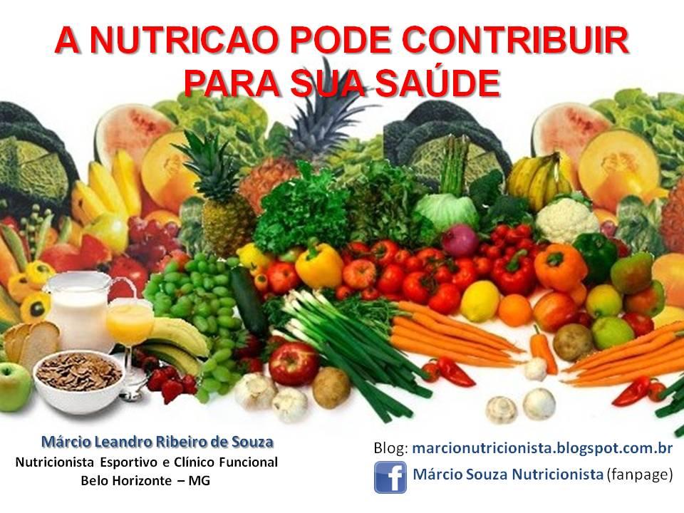 A NUTRIÇÃO PODE CONTRIBUIR E MUITO PARA SUA SAÚDE !!!